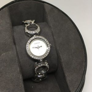 DKNY silver with crystal accents watch.